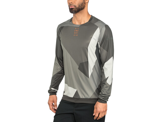 Cube AM Maillot manches longues à col rond Homme, grey camo